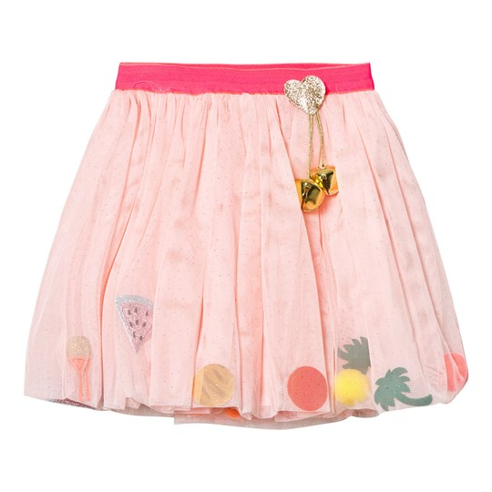 Billieblush Pale Pink Pom Pom and Glitter Charm Skirt with Detachable Bell 447