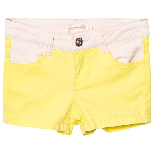 Billieblush Neon Yellow and Pink Denim Shorts 535