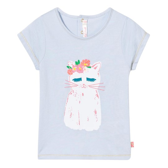 Billieblush Pale Blue Cat Print Tee 775