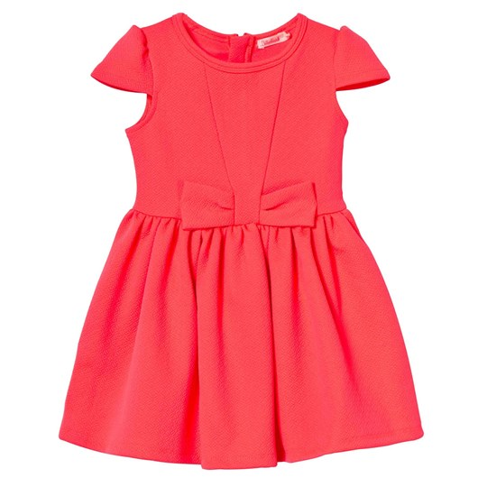 Billieblush Neon Pink Dress Jacquard Bow Party Dress 499