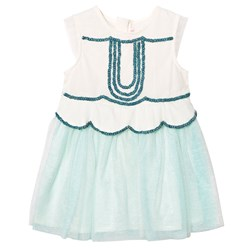 Billieblush Mint Tulle Sequin and Embellished Dress