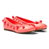Billieblush Hot Pink Spot Pom Pom Pumps Z40