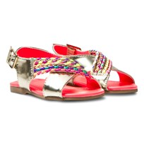 Billieblush Gold Sandals with Braid Detail Z40
