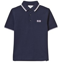 BOSS Navy Classic Branded Polo 849