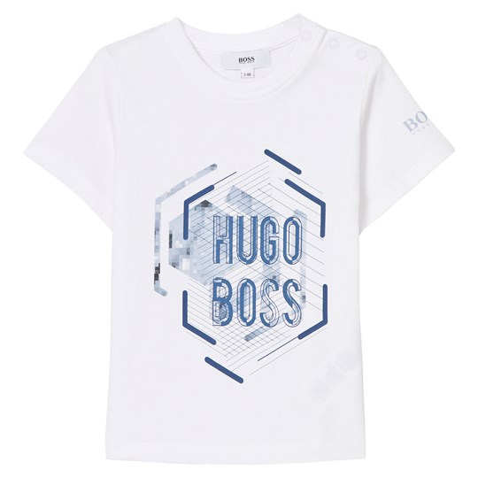 BOSS White Branded Graphic Tee 10B