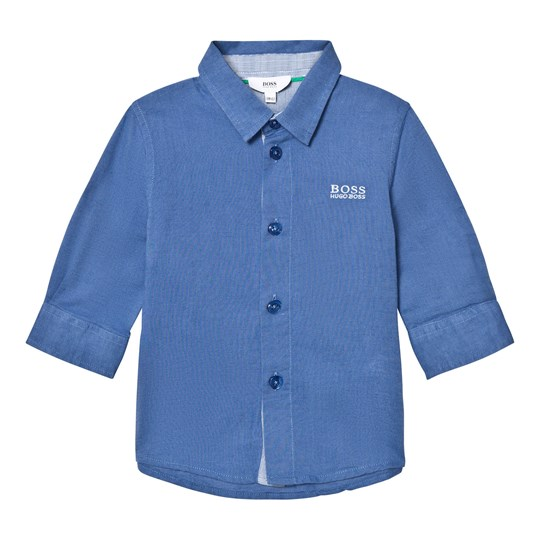 BOSS Blue Linen Blend Shirt 822