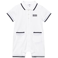 BOSS White Pique Branded Romper 10B