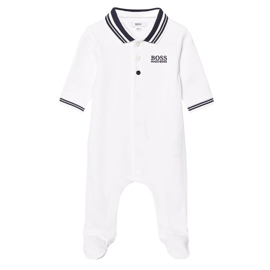 BOSS White Jersey Footed Baby Body in Giftbox 10B