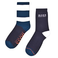 BOSS 2-Pack Socks Navy and Blue 849