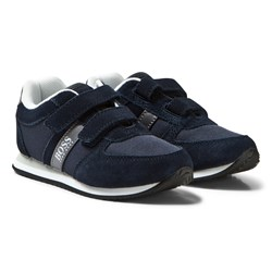 BOSS Navy Suede Trainers