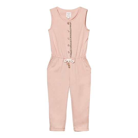 Carrément Beau Pink Jumpsuit with Rose Gold Trim 44M