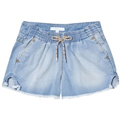 Chloé Blue Chambray Shorts with Tie Waist