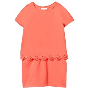 Image of Chloé Embroidered Anglaise Detail Tiered Dress Apricot 10 years (2743708805)