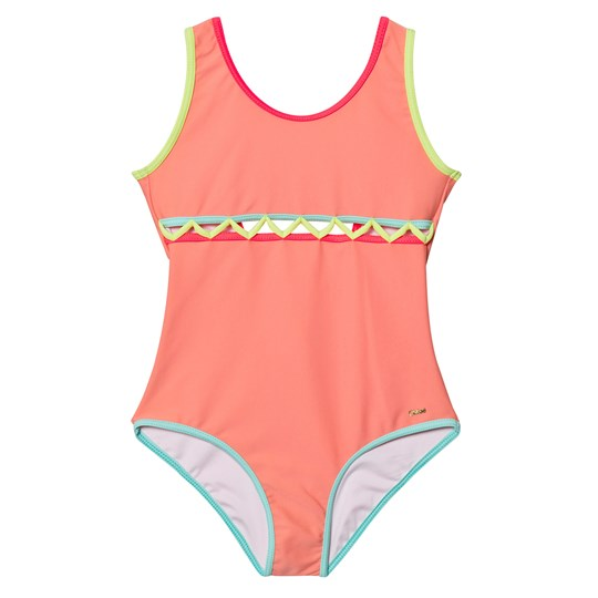 Chloé Pink Cut Out Front Swimsuit Z41