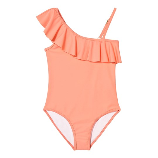 Chloé Hot Pink Asymmetric Frill Swimsuit 424