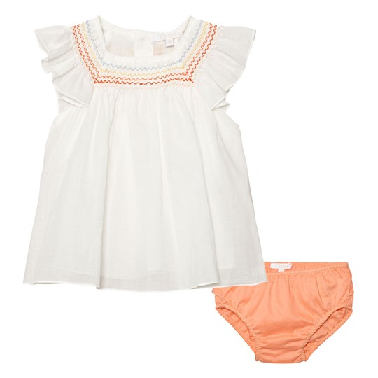 Chloé White Voile Rainsbow Smock Blouse and Knickers Set 117