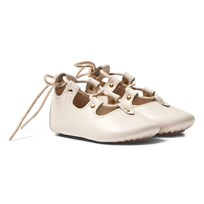 Chloé Pale Pink Leather Lace Up Crib Shoes 451