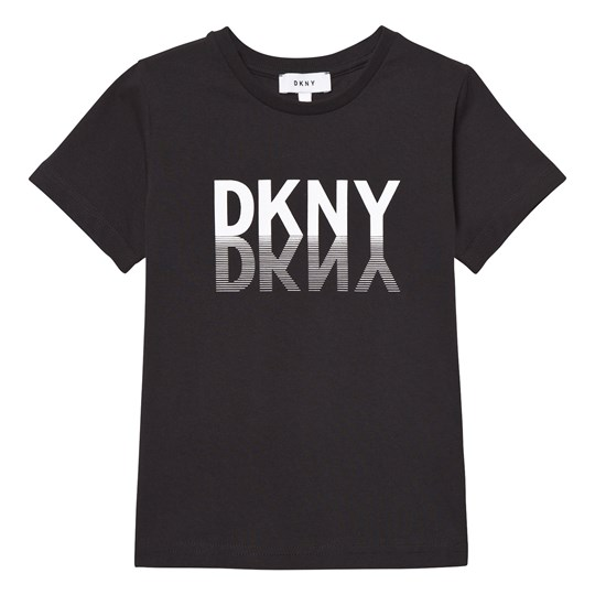 DKNY Black Graphic Branded Tee 09B