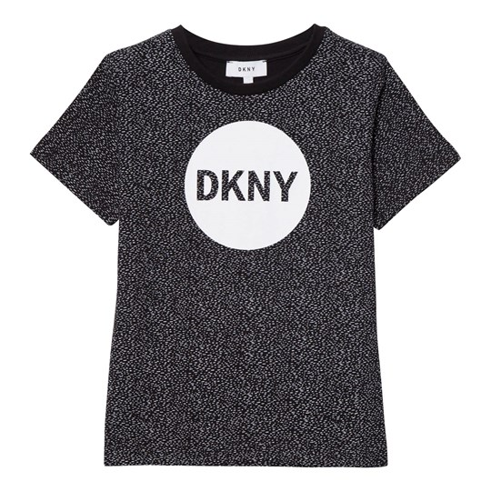 DKNY Black Speckled Logo Tee 09B