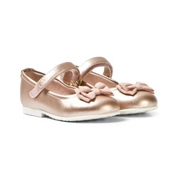 Mayoral Rose Gold Bow Pumps