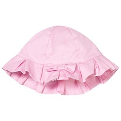 Mayoral Pink Bow Detail Cotton Sun Hat