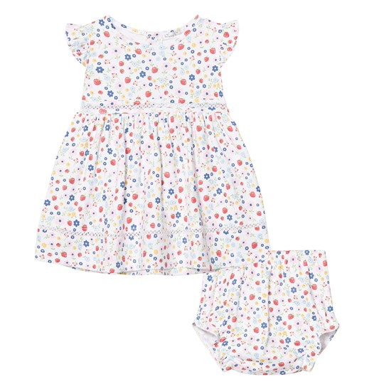Kissy Kissy Pink Strawberry Floral Dress with Bloomers PK