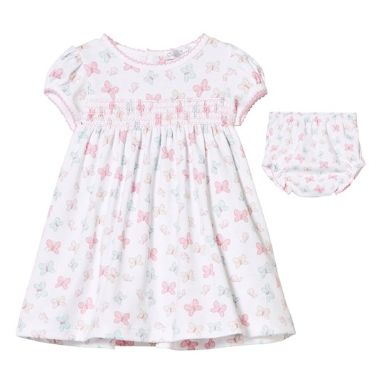 Kissy Kissy White Butterfly Smocked Dress WH