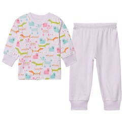 Kissy Kissy Pink Multi Dog Print Pyjamas
