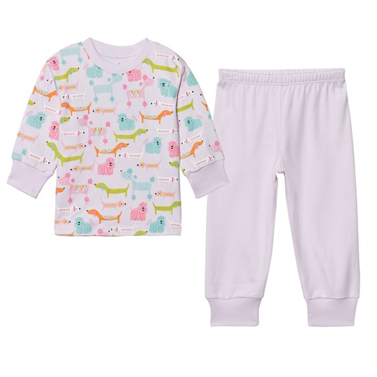 Kissy Kissy Pink Multi Dog Print Pyjamas PK