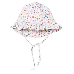 Kissy Kissy White Floral and Strawberry Print Sun Hat
