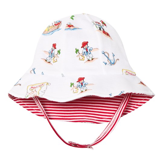Kissy Kissy White Pirate Print Reversible Sun Hat WH