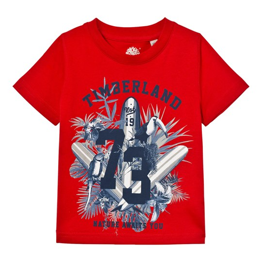 Timberland Red Surf Board Graphic Tee 97E
