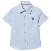 Timberland Pale Blue Short Sleeve Oxford Shirt 77N