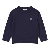 Timberland Navy Knit Branded Jumper 85T