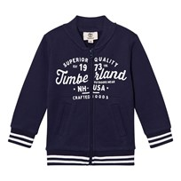 Timberland Navy Branded Script Bomber Jacket 85T