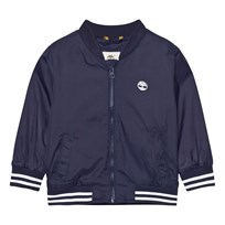 Timberland Navy Nylon Branded Windbreaker with Hood 85T