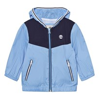 Timberland Blue Branded Windbreaker with Hood 838