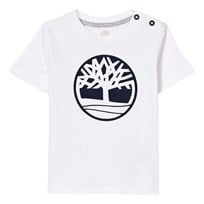 Timberland White Branded Tree Logo Tee 10B