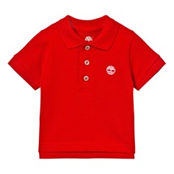 Timberland Classic Red Branded Polo