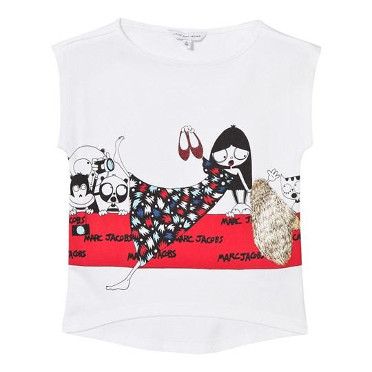 The Marc Jacobs White Miss Marc Print Tee 10B