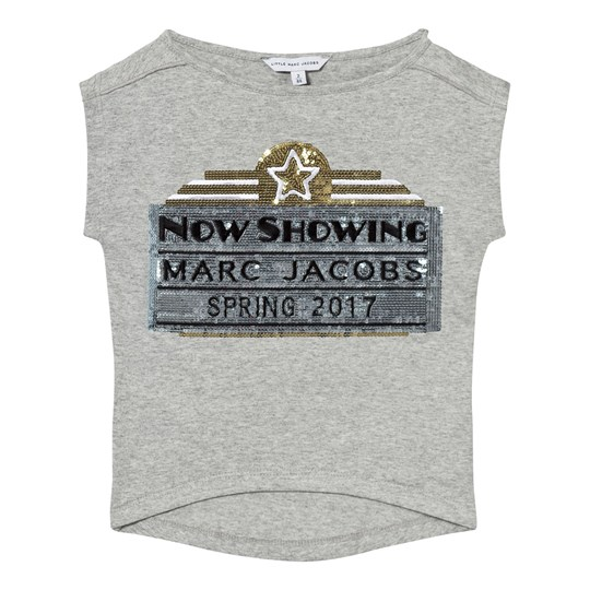Little Marc Jacobs Grey Marc Jacobs Cinema Sequin Tee A22