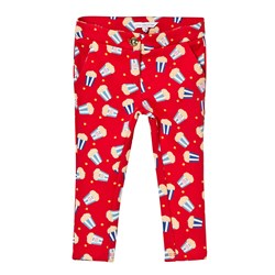 The Marc Jacobs Red Popcorn Print Milano Trousers