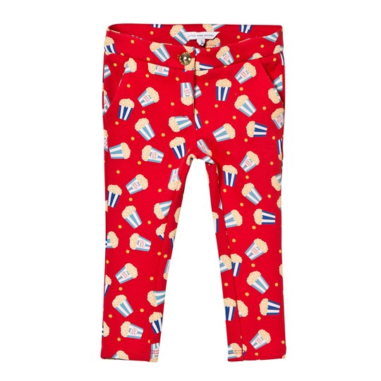 Little Marc Jacobs Red Popcorn Print Milano Trousers 97S