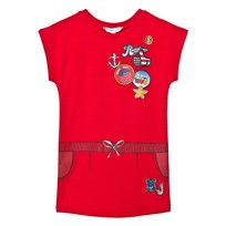 Little Marc Jacobs Red Nautical Badge Print Dress 97S