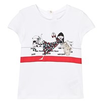 Little Marc Jacobs White Miss Marc Print Tee 10B