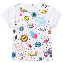 Little Marc Jacobs White Multi Colour Graphics Print Tee 10B
