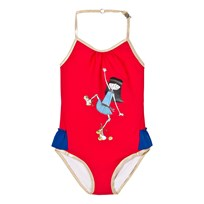 Little Marc Jacobs Red Rollerskating Frill Swimsuit 97S