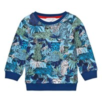 Little Marc Jacobs Blue Jungle and Leopard Print Sweatshirt V76