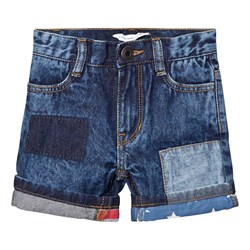 The Marc Jacobs Blue American Flag Turn Up Denim Shorts