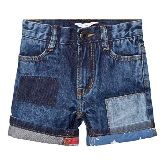 Little Marc Jacobs Blue American Flag Turn Up Denim Shorts Z10